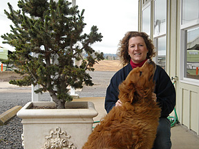 Lori Pavlicek and faithful companion Tobey