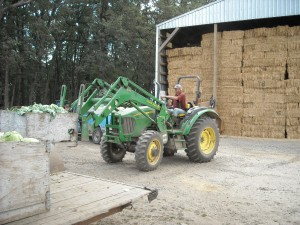 Photo of tractor on Scott Miller Farm