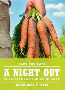 A Night Out with Farmers Ending Hunger will be on Nov. 7th at Sage Center in Boardman, OR