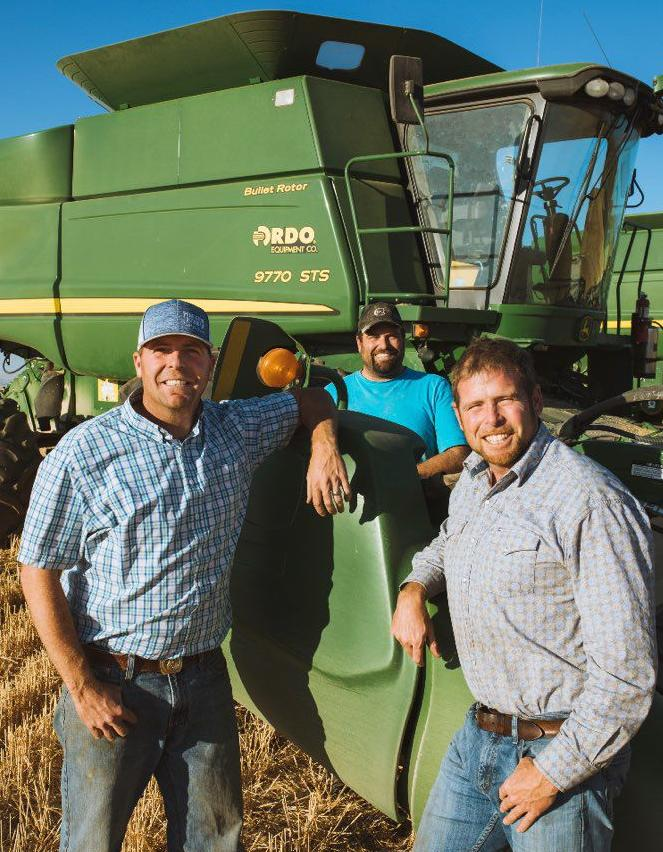 From left to right: Kenzie, Luke, and T.J. Hansell are among the over 100 farmers across the state doubling their efforts to supply Farmers Ending Hunger with enough produce to aid families affected by the COVID-19 outbreak.