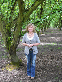 Pieper Sweeney in the Country  Heritage Farms hazelnut orchard.