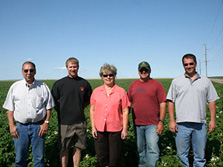 The Amstad Produce, Inc. team: Tony Amstad, Skeeter Amstad, DeeAnn Amstad, Todd Dimbat and Jeff Urbach